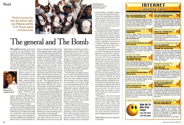 Article Preview: The general and The Bomb, October 1999 | Maclean's