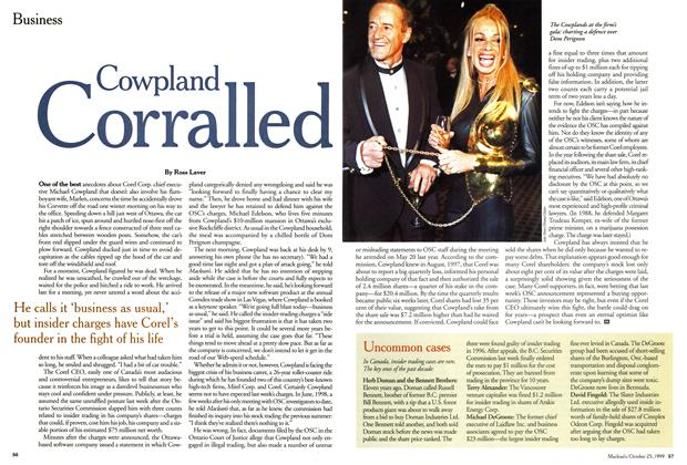 Article Preview: Cowpland Corralled, October 1999 | Maclean's