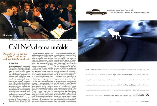 Article Preview: Call-Net's drama unfolds, October 1999 | Maclean's