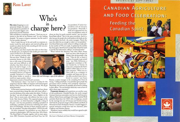 Article Preview: Who's in charge here?, October 1999 | Maclean's