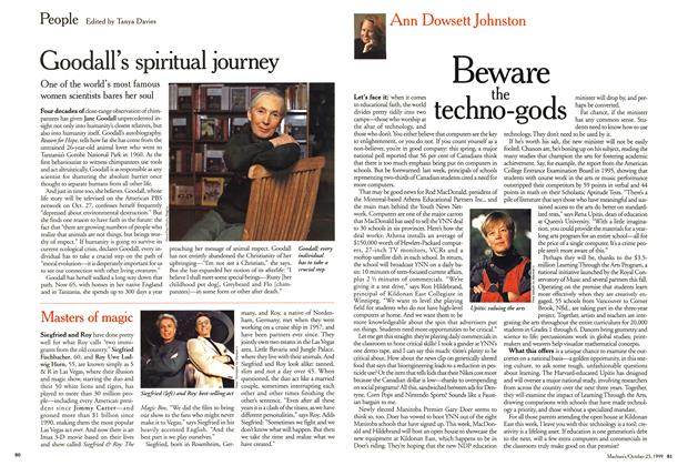 Article Preview: Beware the techno-gods, October 1999 | Maclean's