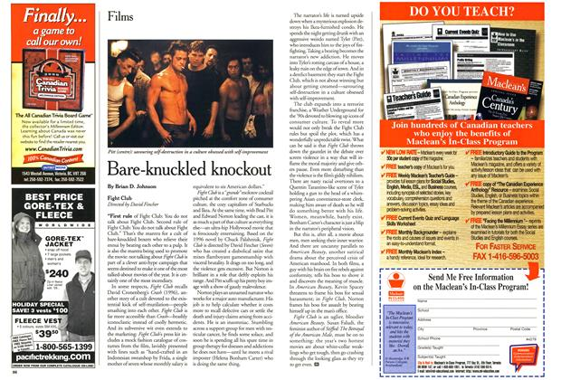 Article Preview: Bare-knuckled knockout, October 1999 | Maclean's