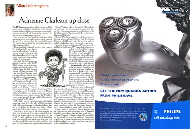 Article Preview: Adrienne Clarkson up close, October 1999 | Maclean's