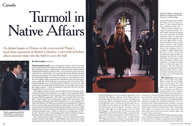 Article Preview: Turmoil in Native Affairs, November 1999 | Maclean's