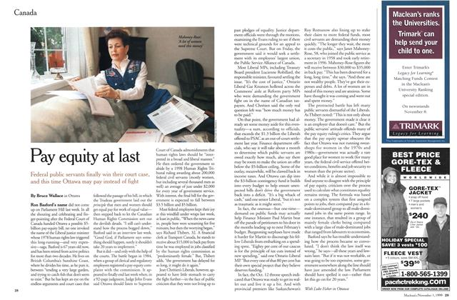 Article Preview: Pay equity at last, November 1999 | Maclean's