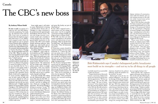 Article Preview: The CBC's new boss, November 1999 | Maclean's