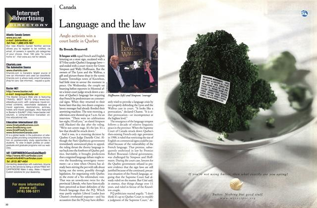 Article Preview: Language and the law, November 1999 | Maclean's