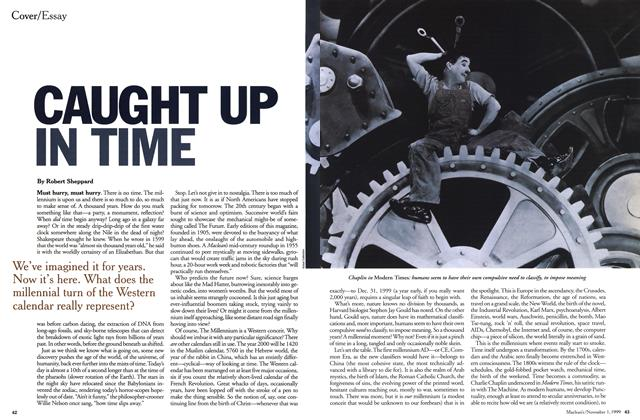 Article Preview: CAUGHT UP IN TIME, November 1999 | Maclean's