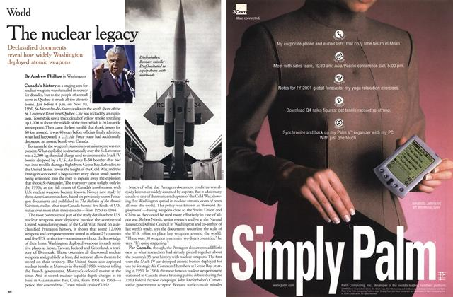 Article Preview: The nuclear legacy, November 1999 | Maclean's
