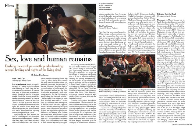Article Preview: Sex, love and human remains, November 1999 | Maclean's