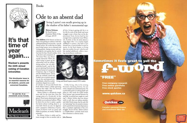 Article Preview: Ode to an absent dad, November 1999 | Maclean's