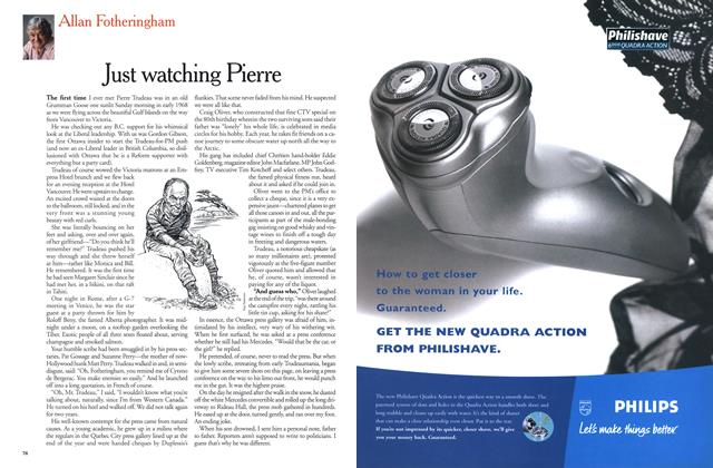Article Preview: Just watching Pierre, November 1999 | Maclean's