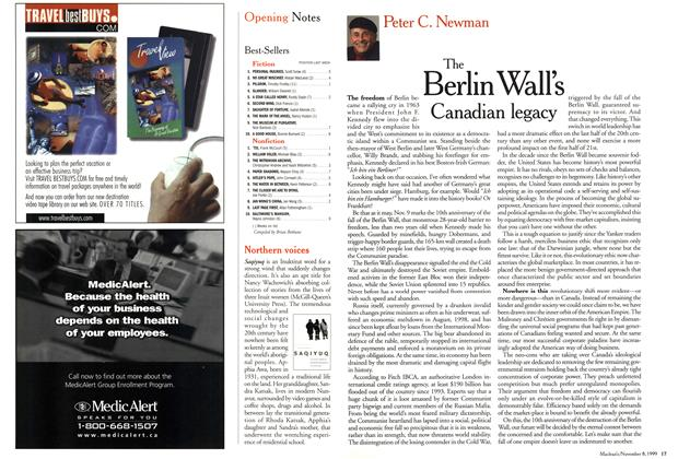 Article Preview: The Berlin Wall's Canadian legacy, November 1999 | Maclean's