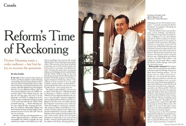 Article Preview: Reform's Time of Reckoning, November 1999 | Maclean's