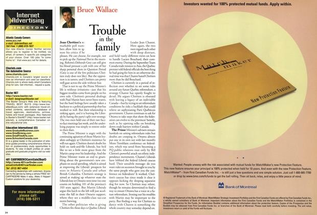 Article Preview: Trouble in the family, November 1999 | Maclean's