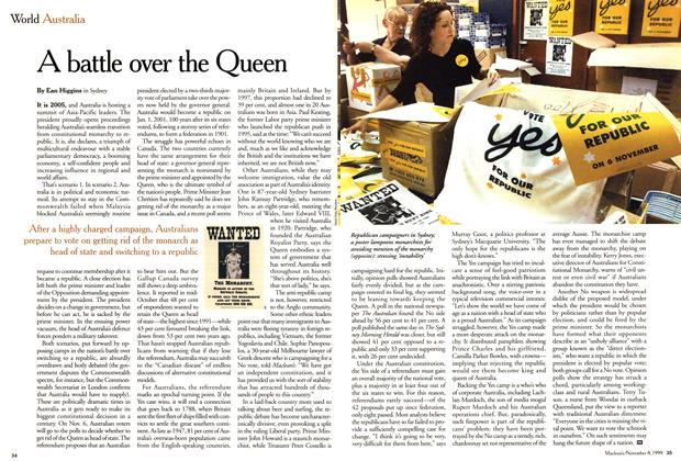 Article Preview: A battle over the Queen, November 1999 | Maclean's