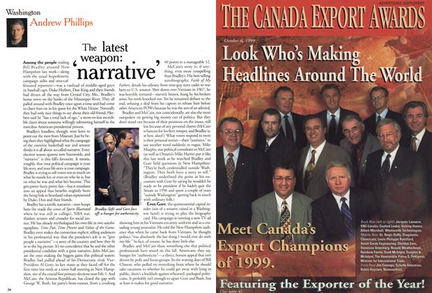 Article Preview: The latest weapon: 'narrative', November 1999 | Maclean's