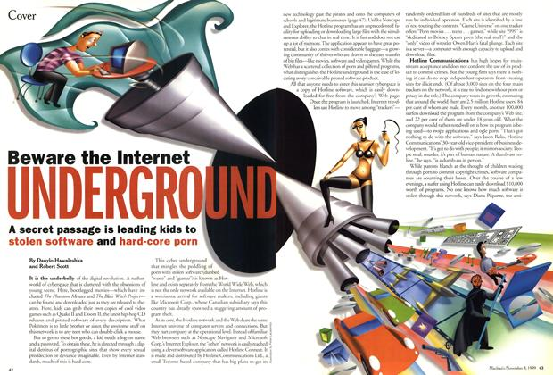 Article Preview: Beware the Internet UNDERGROUND, November 1999 | Maclean's