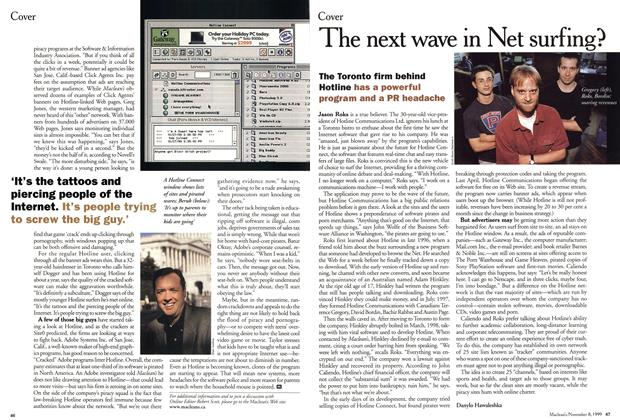 Article Preview: The next wave in Net surfing?, November 1999 | Maclean's