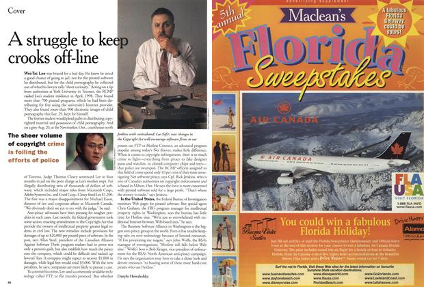 Article Preview: A struggle to keep crooks off-line, November 1999 | Maclean's