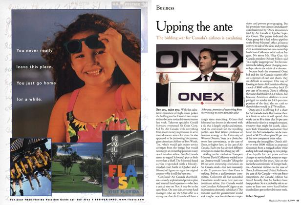 Article Preview: Upping the ante, November 1999 | Maclean's