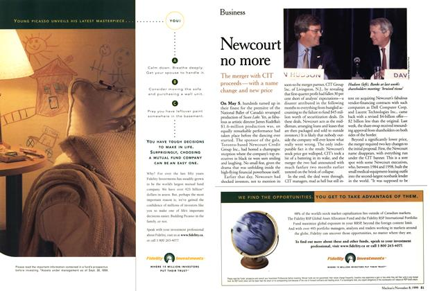 Article Preview: Newcourt no more, November 1999 | Maclean's