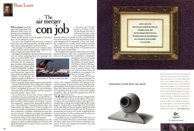 Article Preview: The air merger con job, November 1999 | Maclean's