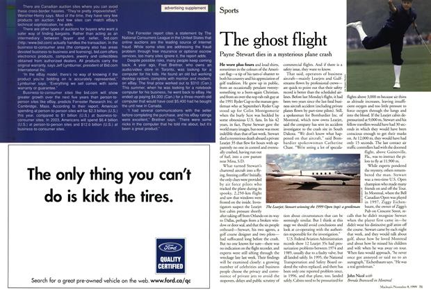 Article Preview: The ghost flight, November 1999 | Maclean's