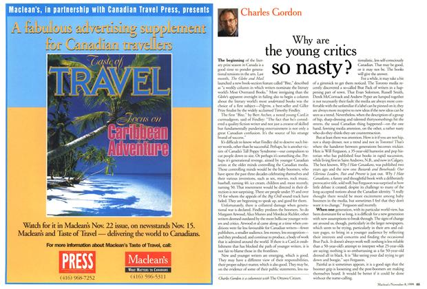 Article Preview: Why are the young critics so nasty?, November 1999 | Maclean's