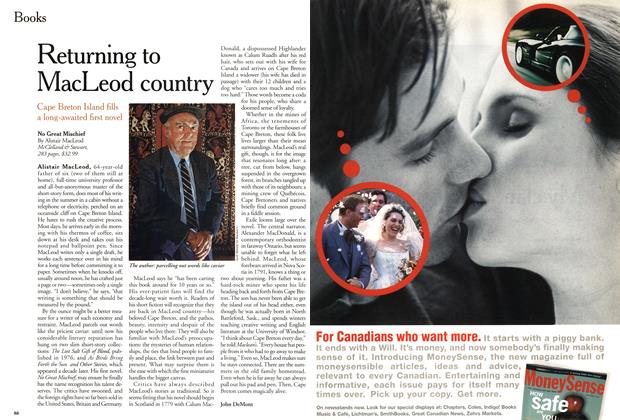 Article Preview: Returning to MacLeod country, November 1999 | Maclean's