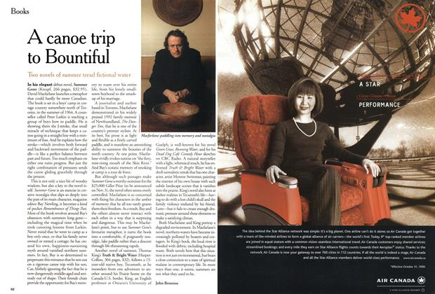 Article Preview: A canoe trip to Bountiful, November 1999 | Maclean's