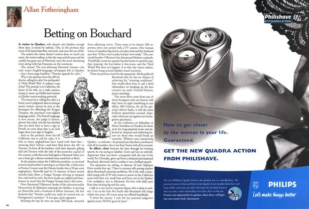 Article Preview: Betting on Bouchard, November 1999   Maclean's