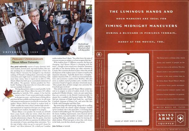 Article Preview: PRIMARILY UNDERGRADUATE Mount Allison University, November 1999   Maclean's