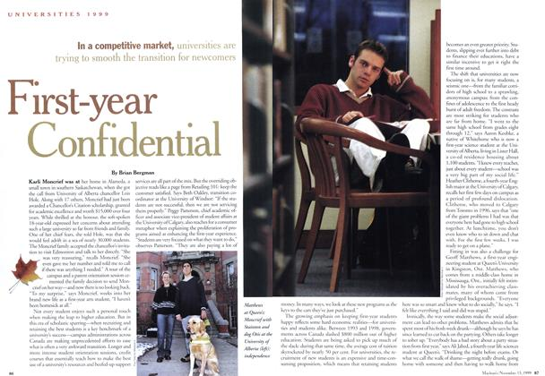Article Preview: First-year Confidental, November 1999 | Maclean's
