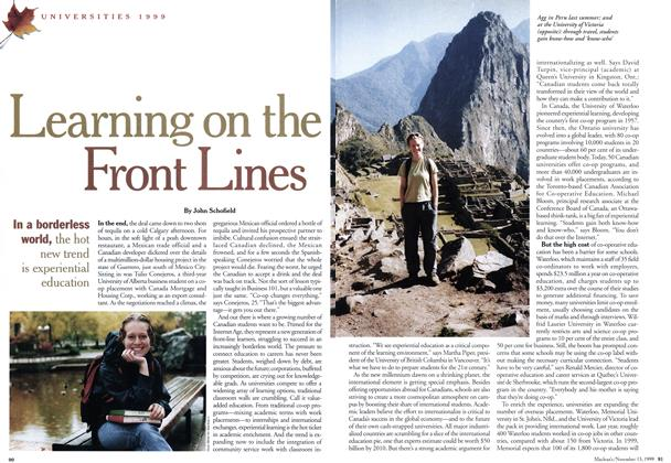 Article Preview: Learning on the Front Lines, November 1999 | Maclean's