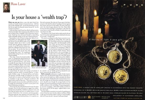 Article Preview: Is your house a 'wealth trap'?, November 1999 | Maclean's