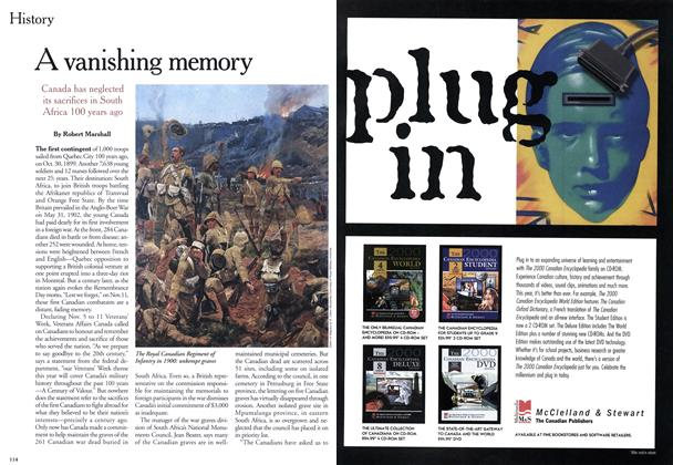 Article Preview: A vanishing memory, November 1999 | Maclean's