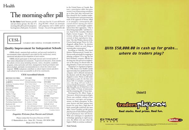 Article Preview: The morning-after pill, November 1999 | Maclean's