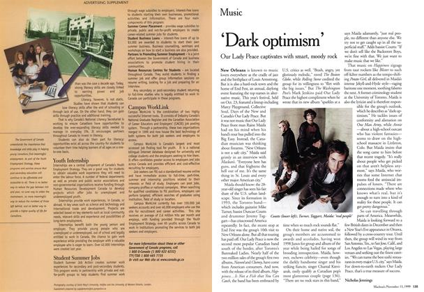 Article Preview: 'Dark optimism', November 1999 | Maclean's