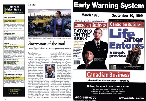 Article Preview: Starvation of the soul, November 1999 | Maclean's