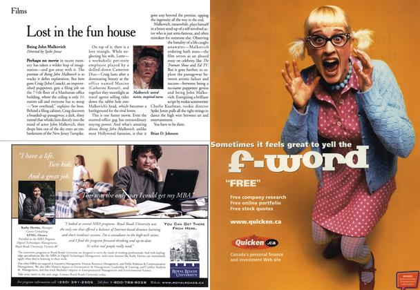 Article Preview: Lost in the fun house, November 1999 | Maclean's