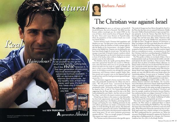 Article Preview: The Christian war against Israel, November 1999 | Maclean's