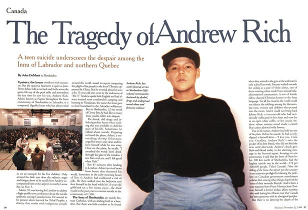 Article Preview: The Tragedy of Andrew Rich, November 1999 | Maclean's