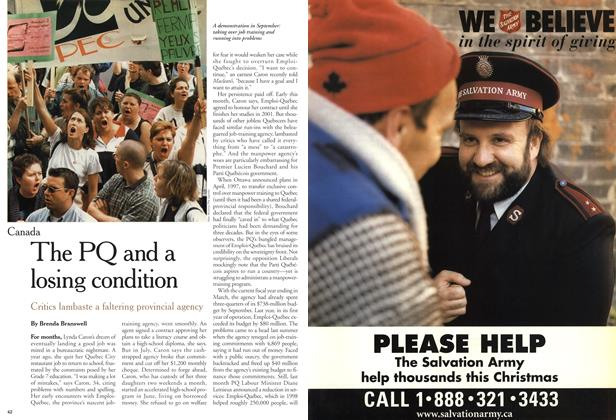 Article Preview: The PQ and a losing condition, November 1999 | Maclean's