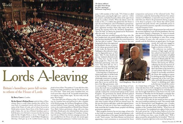 Article Preview: Lords A-leaving, November 1999 | Maclean's