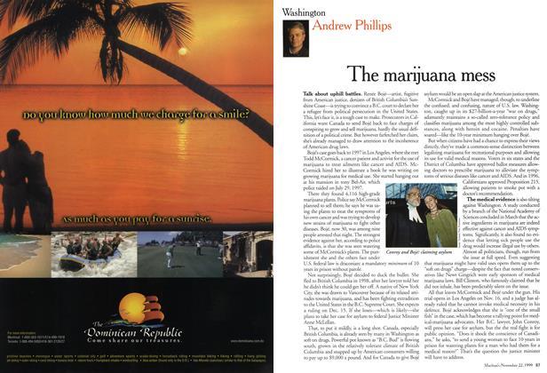 Article Preview: The marijuana mess, November 1999 | Maclean's