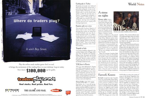 Article Preview: World Notes, November 1999 | Maclean's