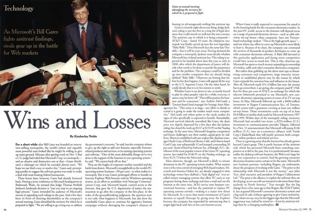 Article Preview: Wins and Losses, November 1999 | Maclean's