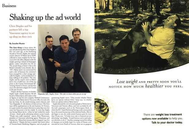 Article Preview: Shaking up the ad world, November 1999   Maclean's