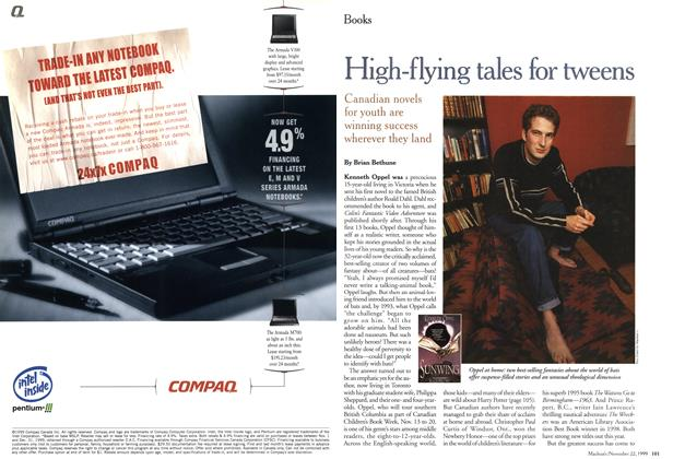 Article Preview: High-flying tales for tweens, November 1999 | Maclean's